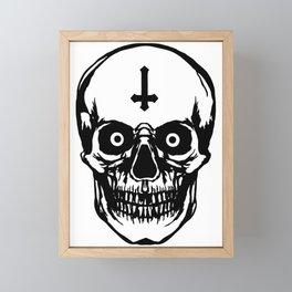 Most Ugly Satanic Skull Framed Mini Art Print