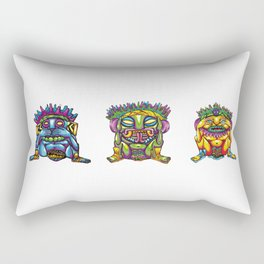 Three wise gods totem Rectangular Pillow