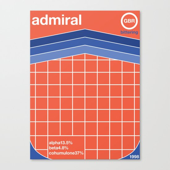 admiral single hop Canvas Print