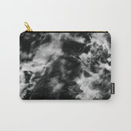 Waves III - Black and White Carry-All Pouch