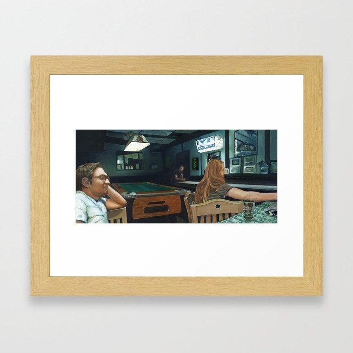 On Edge Framed Art Print