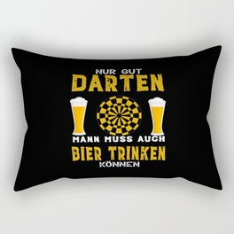 Funny Only Good Darts Is Not Enough Rectangular Pillow