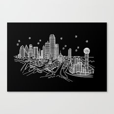 Dallas, Texas City Skyline Canvas Print