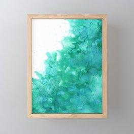 Blue Splash Framed Mini Art Print