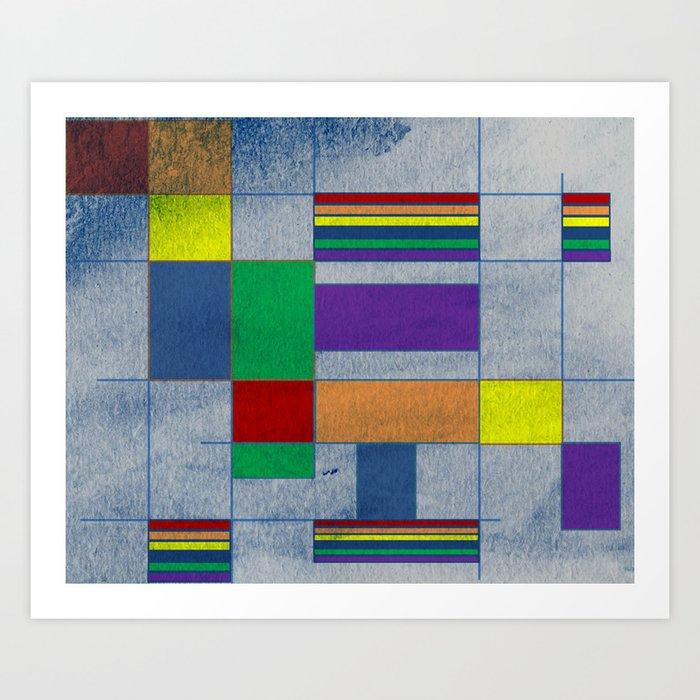 MidMod Rainbow Pride 1.0 Art Print