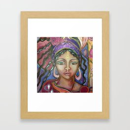 Her Gypsy Soul Framed Art Print