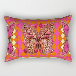 ABSTRACT MONARCH BUTTERFLY IN PINK-YELLOW Rectangular Pillow