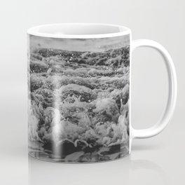 Black and White Pacific Ocean Waves Coffee Mug
