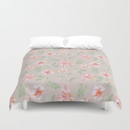 bright moody floral Duvet Cover