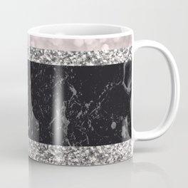 Gray Black Marble Glitter Stripes Glam #1 #shiny #decor #art #society6 Coffee Mug