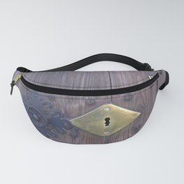 Old door knob with keyholes Fanny Pack