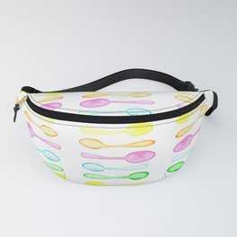 Stripes of Rainbow Watercolor Spoons! Fanny Pack