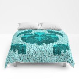 Florentine Teal Garden Comforters