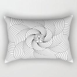 Mandala circle Rectangular Pillow
