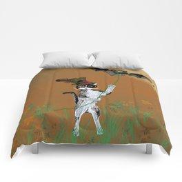 Cat Walking His Bat Comforters