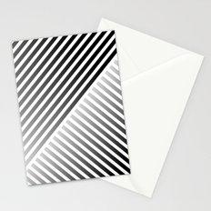 Stripes In Black & White 2 Stationery Cards