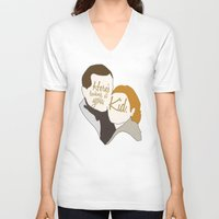 casablanca V-neck T-shirts featuring Casablanca by Swell Dame
