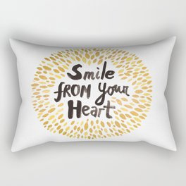Smile From Your Heart Rectangular Pillow
