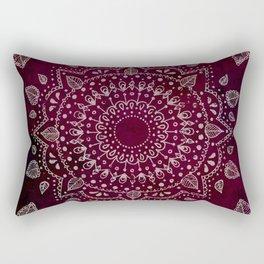 Wine Mandala Rectangular Pillow