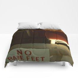 no bare feet Comforters