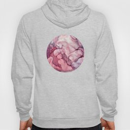 Liquid Mauve Abstract Hoody