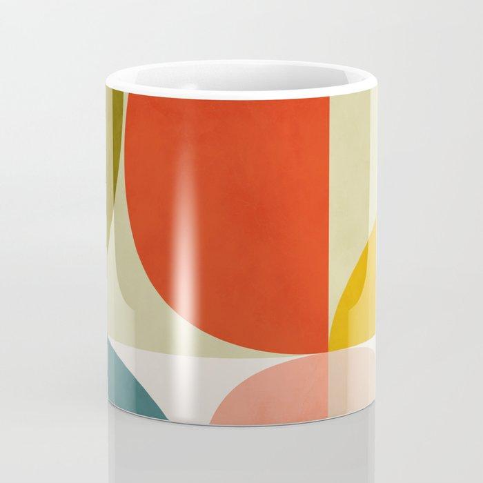 shapes of mid century geometry art Coffee Mug