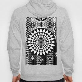 Flower-of-Life Design Sacred Geometry Black White Hoody