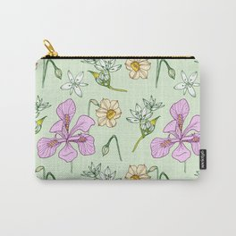 Wild Iris and Narcissus Carry-All Pouch