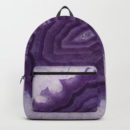 Purple Agate and crystals Backpack