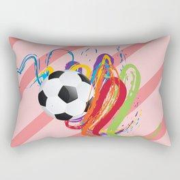 Soccer Ball with Brush Strokes Rectangular Pillow