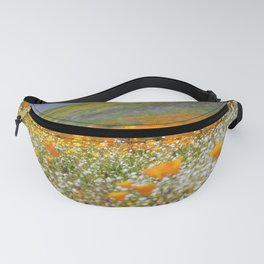 Golden Meadow of Poppies by Reay of Light Photography Fanny Pack