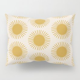 Golden Sun Pattern Pillow Sham