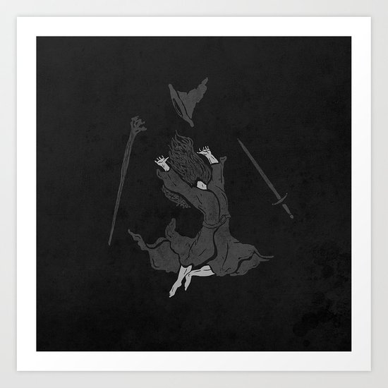 the wizard does not remain the same Art Print