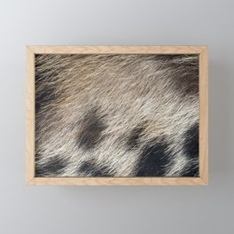 Pig Skin Hair Framed Mini Art Print