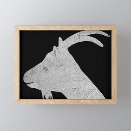 Marie, la chèvre en Irlande (Goat silhouette) Framed Mini Art Print