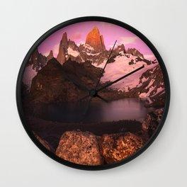 Fitz Roy Sunrise Wall Clock
