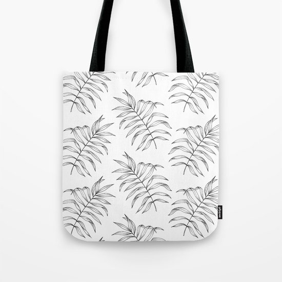 Palm Leaves Pattern Tote Bag