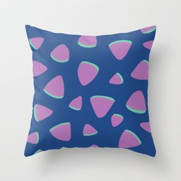 Abstract Graphic Pattern | Blue | Pink | Green Throw Pillow