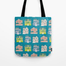 Victorian Homes Pattern Tote Bag