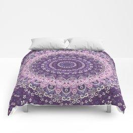Purple Lace Mandala Comforters