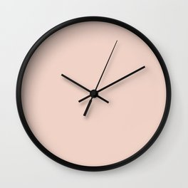 Pink Sand Pale Rose Gold Nude Wall Clock