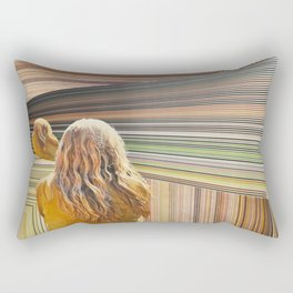 The Treachery of Images; A Portrait of the Viewer in a Holographic Multiverse Rectangular Pillow