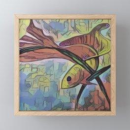 My Beautiful Goldfish Framed Mini Art Print