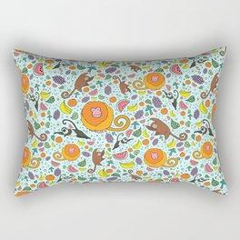 Cute Rainforest Pattern Rectangular Pillow