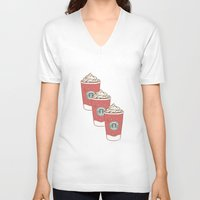 starbucks V-neck T-shirts featuring Christmas Design Starbucks  by swiftstore