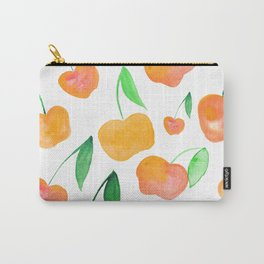 Watercolor cherries - orange and green Carry-All Pouch