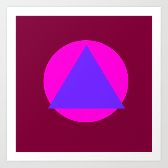 Circle and Triangle Art Print
