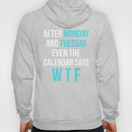 After Monday and Tuesday Even The Calendar Says WTF (Black) Hoody