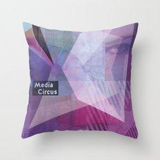 Media Circus Throw Pillow