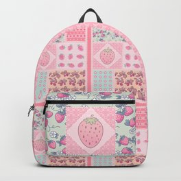 Strawberry Patchwork Backpack